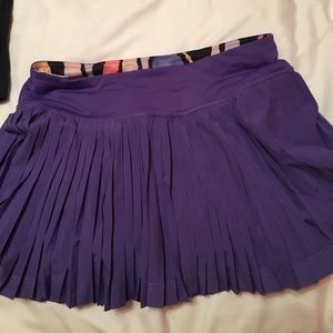 Lululemon purple pleated tennis skirt size 4